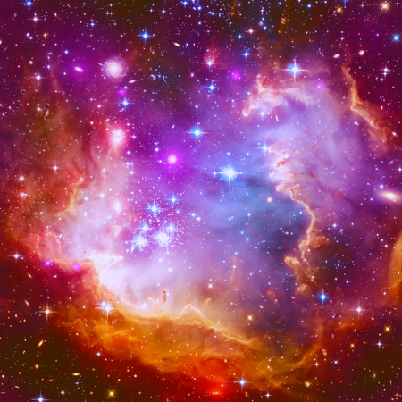 Photo for Abstract illustration with a beautiful star space nebula - Royalty Free Image