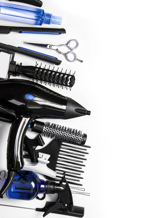 Photo for Hairdressing tools on whiter background - Royalty Free Image