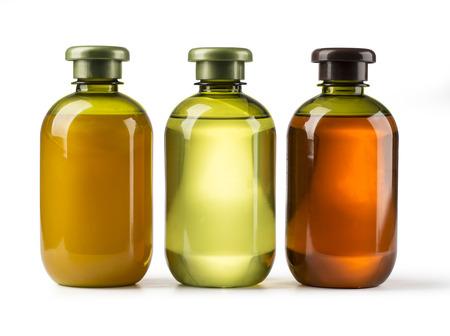 Foto de Shampoo bottle on a white  - Imagen libre de derechos
