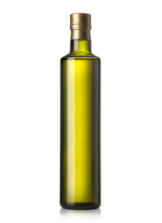 Photo pour Olive oil bottle on white (includes clipping path) - image libre de droit
