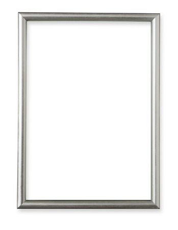 Photo pour Silver frame isolated on white background - image libre de droit