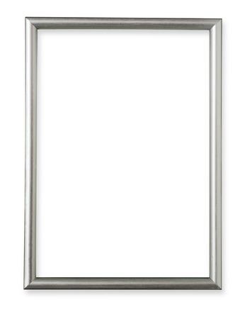 Foto de Silver frame isolated on white background - Imagen libre de derechos