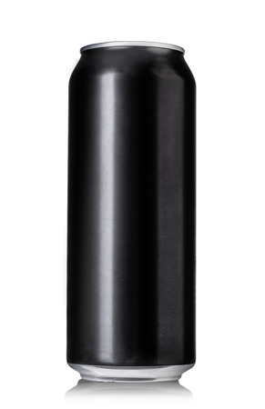 Foto de Black beer cans isolated on white - Imagen libre de derechos