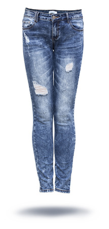 Photo for woman jeans in white background - Royalty Free Image