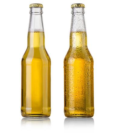 Foto de beer bottle studio shot with cap isolated on white - Imagen libre de derechos