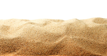 Photo for Sand dunes isolated on white background - Royalty Free Image
