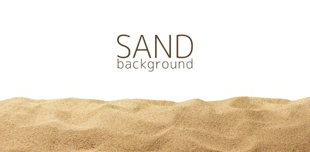 Photo pour The sand scattering isolated on white background - image libre de droit