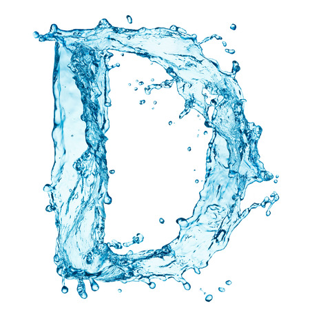 Photo pour Water splashes letter - image libre de droit