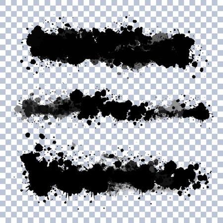 Ilustración de Set of vector ink blots with transparent edges - Imagen libre de derechos