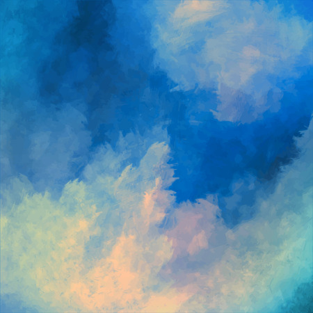 Illustration pour Dramatic sky vector digital watercolor painting background - image libre de droit