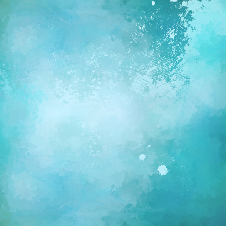 Photo pour Abstract blue vector watercolor background with subtle grunge painting texture - image libre de droit