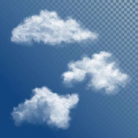 Illustration pour Transparent White Vector Cloud - image libre de droit