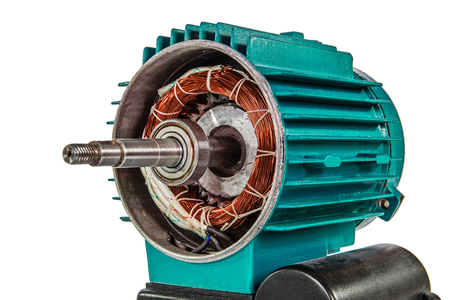Photo pour Electrical motor, isolated on white background - image libre de droit