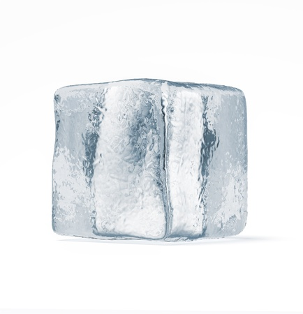 Ice cube isolated on a white background