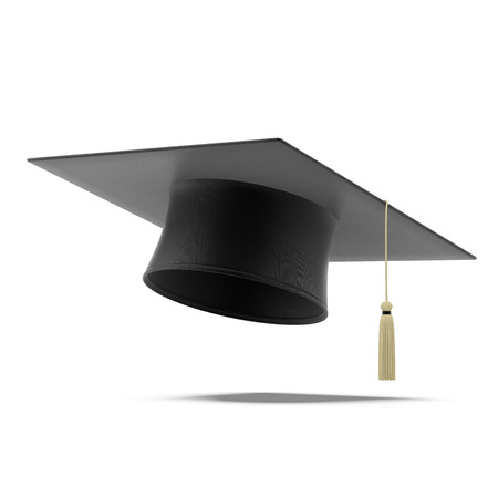 Photo for Grad hat  isolated on a white background - Royalty Free Image