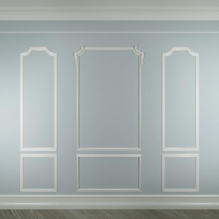 Photo pour molding on white wall - image libre de droit