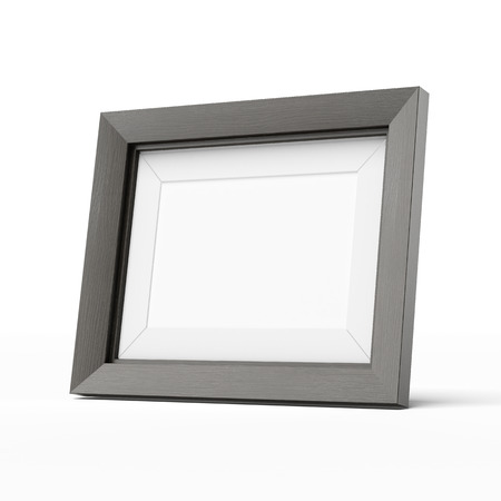 Photo pour wooden picture frame  isolated on a white background - image libre de droit