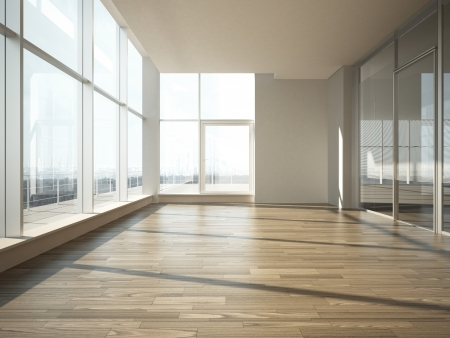 Photo for office interior with glass wall - Royalty Free Image
