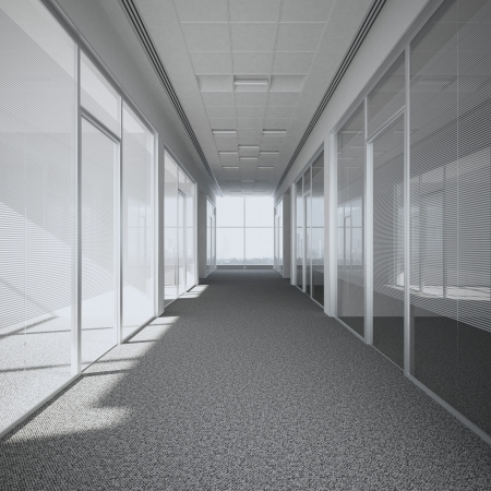 Photo for office corridor  3d render - Royalty Free Image
