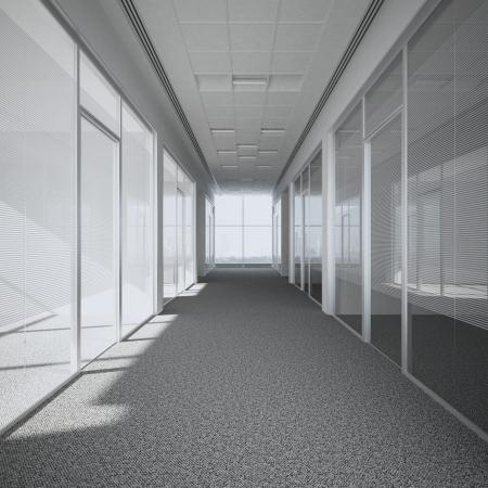 Foto de office corridor  3d render - Imagen libre de derechos