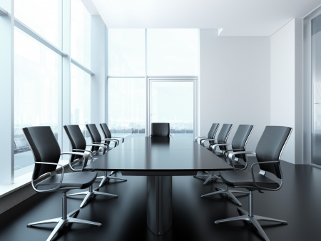 Photo for meeting room interior. 3d render scene - Royalty Free Image