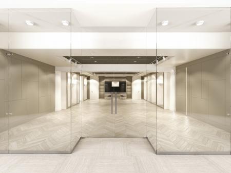 Foto de Shop with glass windows and doors. 3d render - Imagen libre de derechos
