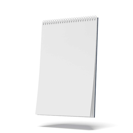 Photo for blank spiral notepad isolated on a white background. 3d render - Royalty Free Image