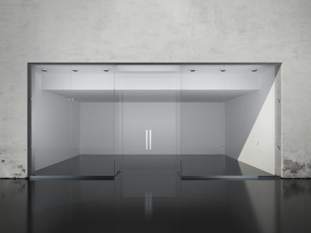 Photo pour Exterior of empty shop. 3d render - image libre de droit