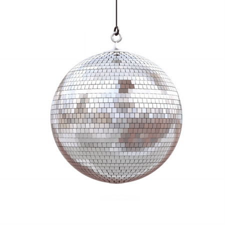 Foto de disco ball isolated on a white background. 3d render - Imagen libre de derechos