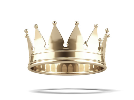 Photo pour Gold crown isolated on a white background. 3d render - image libre de droit