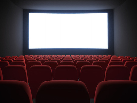 Photo pour cinema screen with seats - image libre de droit