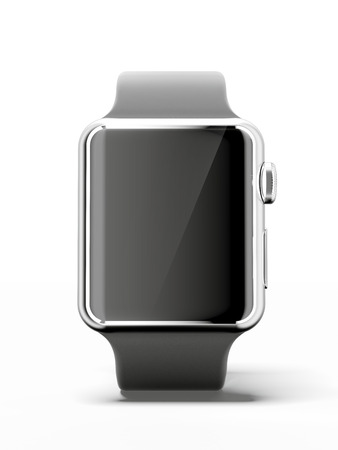 Photo pour Black smart watch - image libre de droit