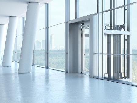 Foto de Transparent elevator - Imagen libre de derechos