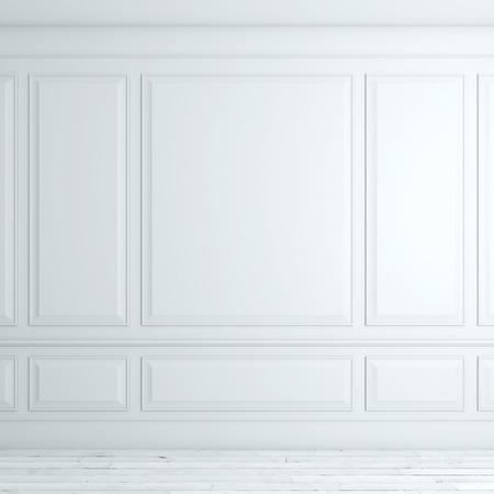 Photo pour White classical interior - image libre de droit