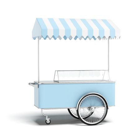 Photo pour Blue ice cream cart - image libre de droit