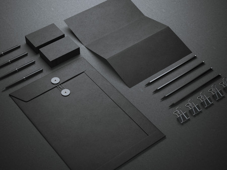 Photo pour Black branding mockup - image libre de droit