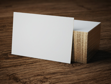 Photo for white bussiness card mockup - Royalty Free Image