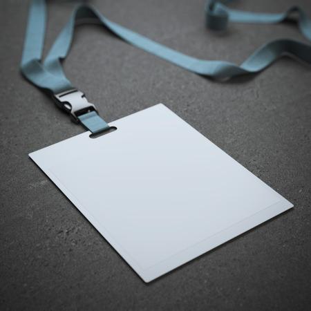 Foto de Blank badge with neckband - Imagen libre de derechos
