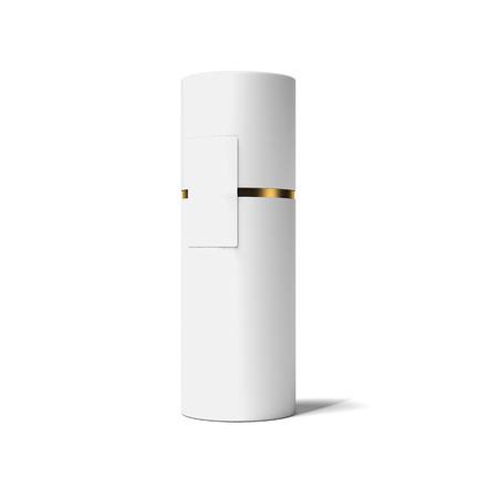 Photo pour White and gold tube. 3d rendering - image libre de droit