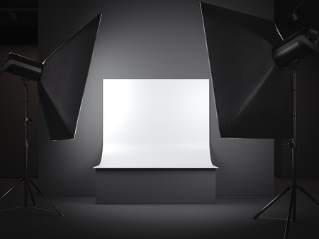 Photo for Photostudio with a background for a subject survey. 3d rendering - Royalty Free Image