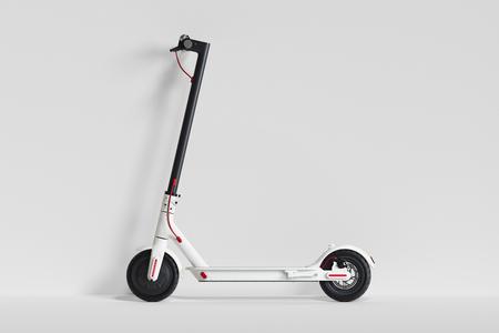 Foto de Electric scooter isolated on white background. eco transport. 3d rendering - Imagen libre de derechos