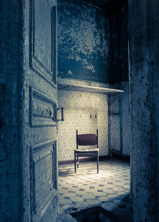 Photo for Abandoned room in an old shabby house - Royalty Free Image