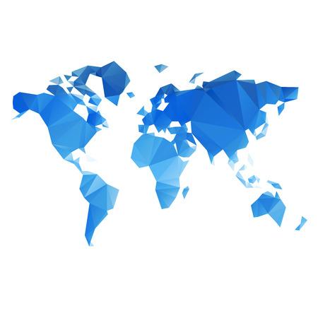 Illustration pour Triangular World Map  - image libre de droit