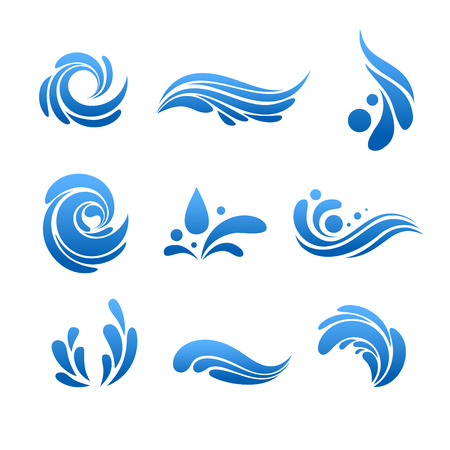 Foto de Water drop and splash icon vector set - Imagen libre de derechos