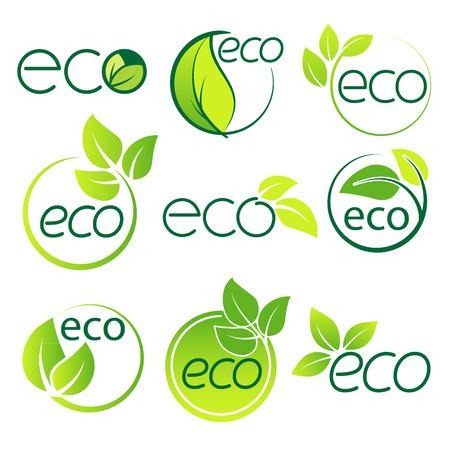 Ilustración de Ecology  logo symbol set vector file - Imagen libre de derechos
