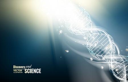 Illustration pour Digital illustration of a DNA molecule. Vector illustration. - image libre de droit