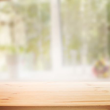 Ilustración de Perspective background with wooden table for your design. Vector illustration. - Imagen libre de derechos