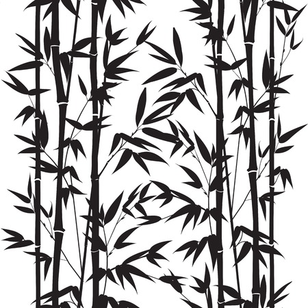 Illustration pour Bamboo seamless pattern isolated on white background. Vectro illustration. - image libre de droit