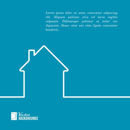 Ilustración de House in minimal flat style cleaness line. Vector illustration. - Imagen libre de derechos