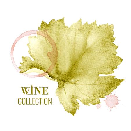 Illustration pour Concept design for a wine list. Vector llustration. - image libre de droit